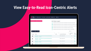 View Easy-to-Read Icon-Centric Alerts