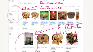 Free Google Shopping listing with enhanced categories