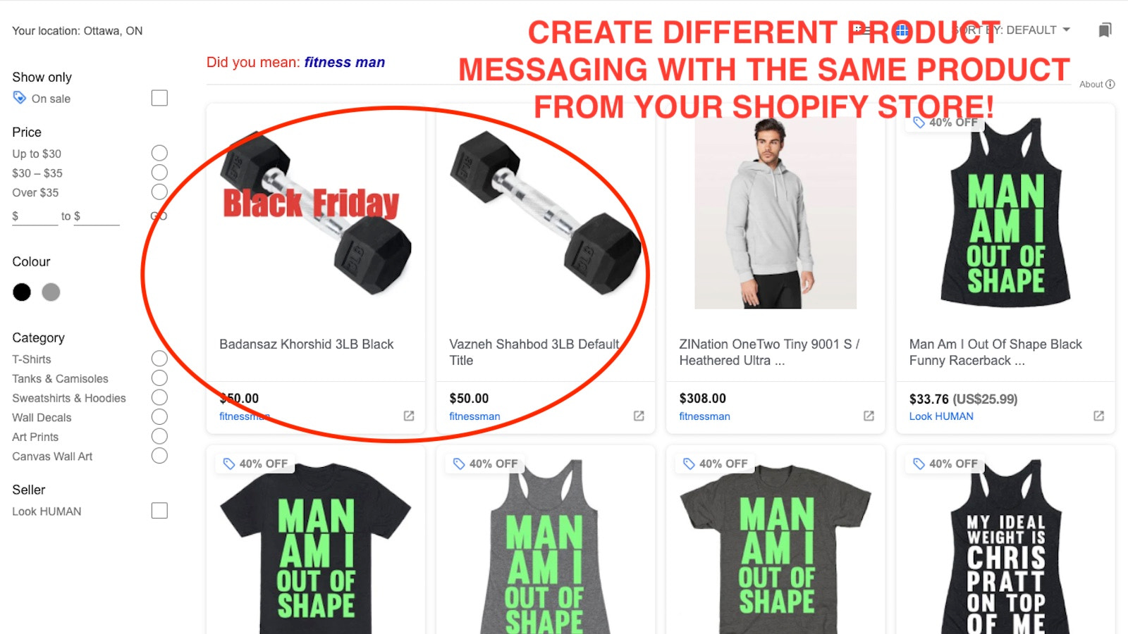 Multiple Google Shopping Product Listing from on Shopify Product