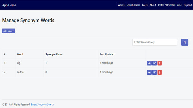 Manage Words
