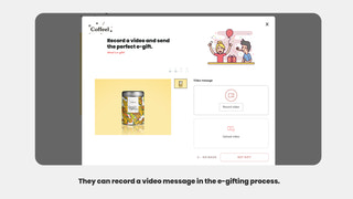 Record a video message during the gifting process