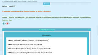 Store front view of the FAQ widget