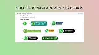 WhatsApp Icon Designs and Placements Options to show on website