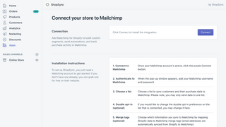 Connect to Mailchimp