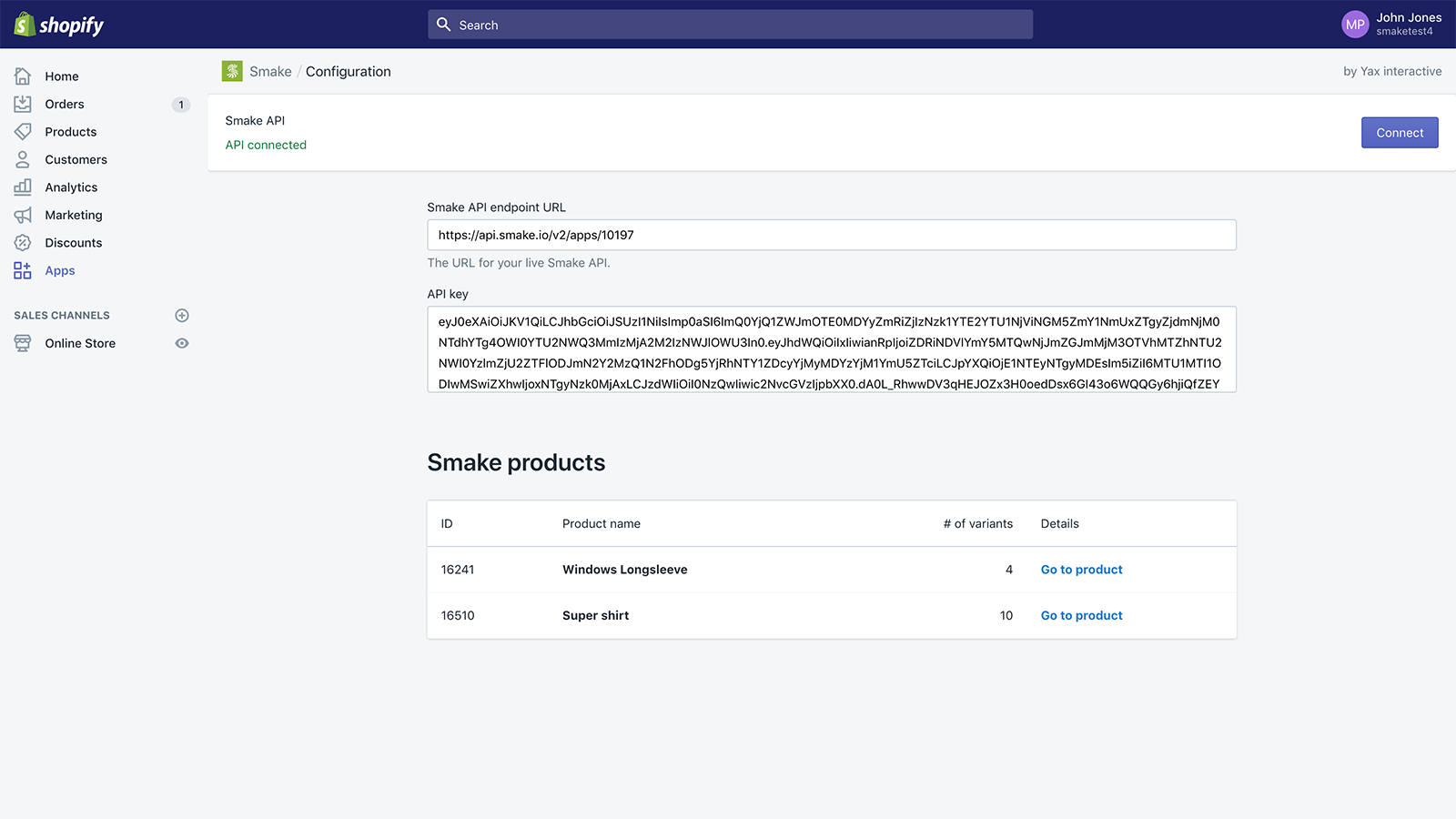 Smake product preview