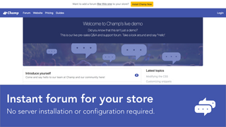 Easily add a forum to your store