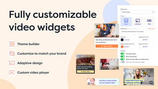 Fully customizable video widgets for Shopify