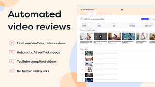 Automated YouTube video reviews for Shopify