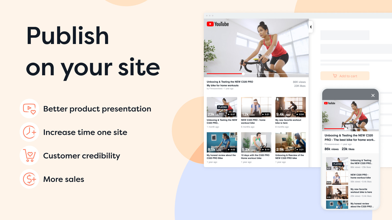 Publish YouTube video reviews on your Shopify store