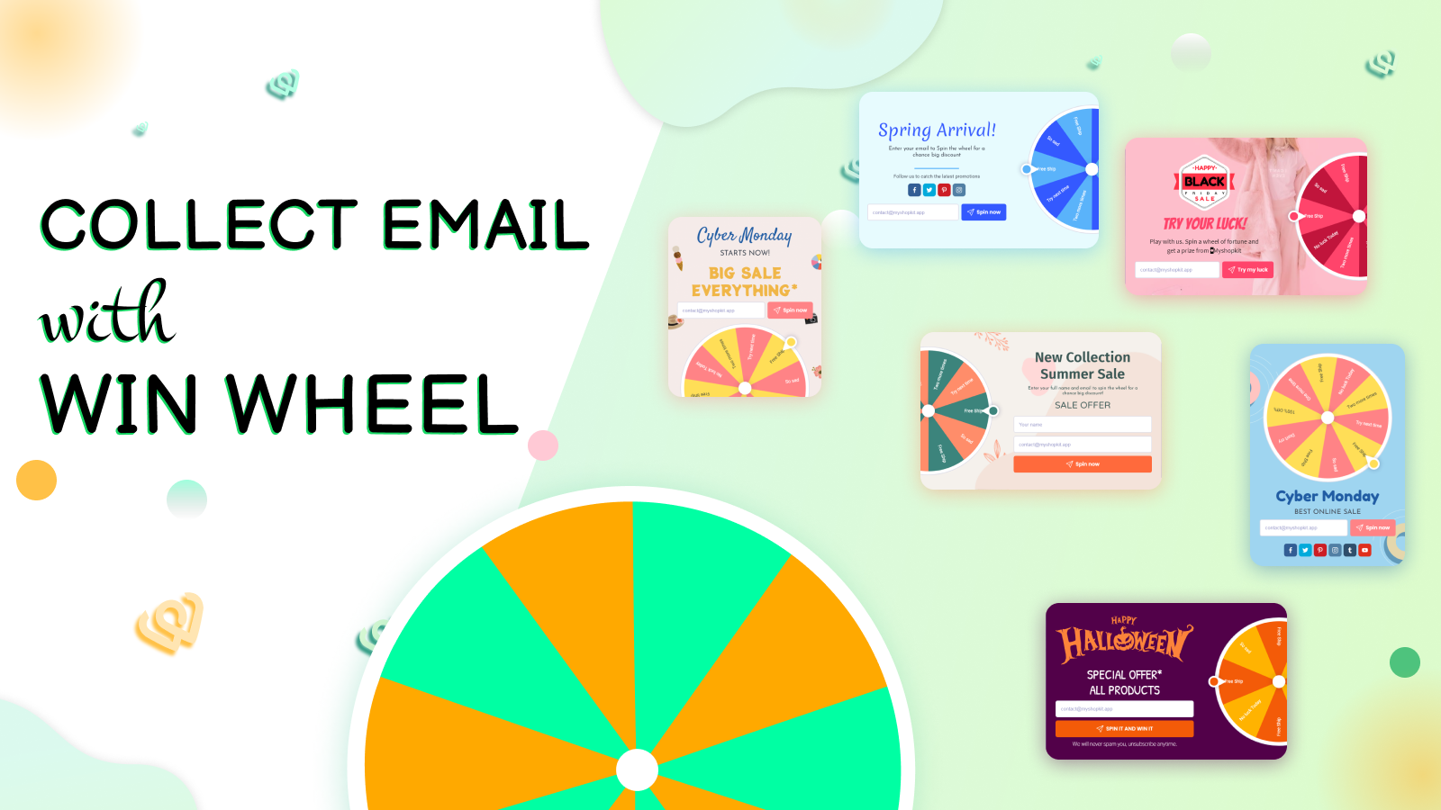 Collect Emails With Win Wheel