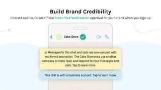 Build Brand Credibility with green tick verification