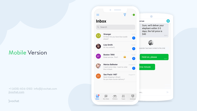 JivoChat Mobile for Shopify