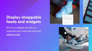 Display shoppable feeds and galleries