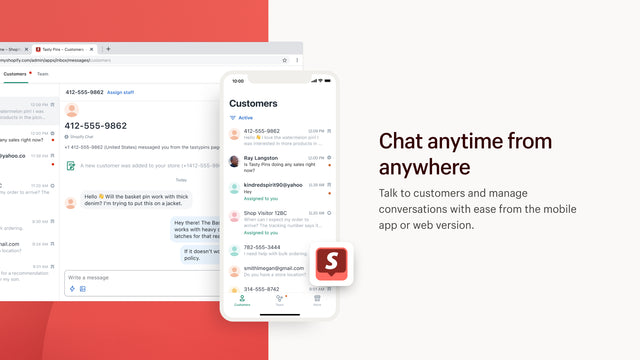 Chat anytime, from anywhere