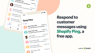 Respond to customer messages using Shopify Ping, a free app