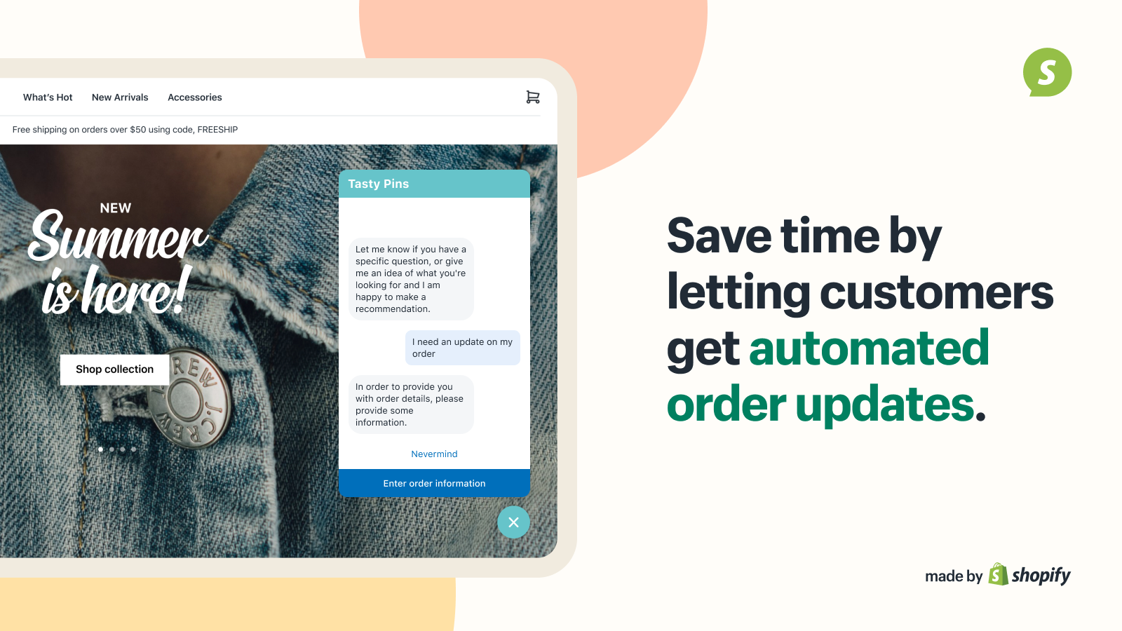 Save time by letting customers get automated order updates