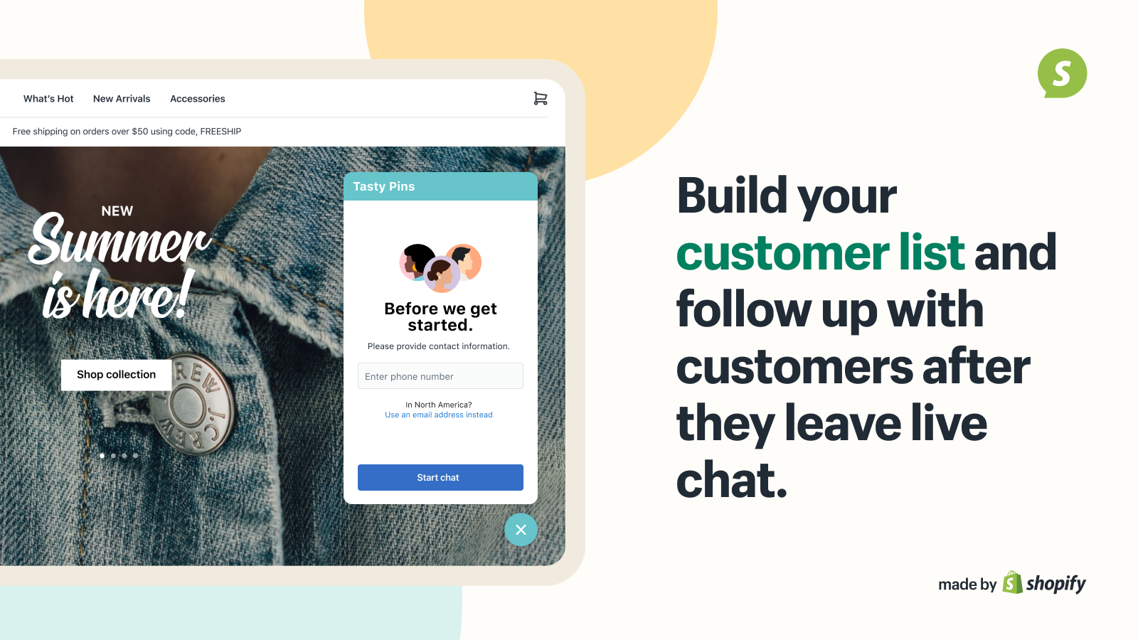 Build your customer list and follow up with customers