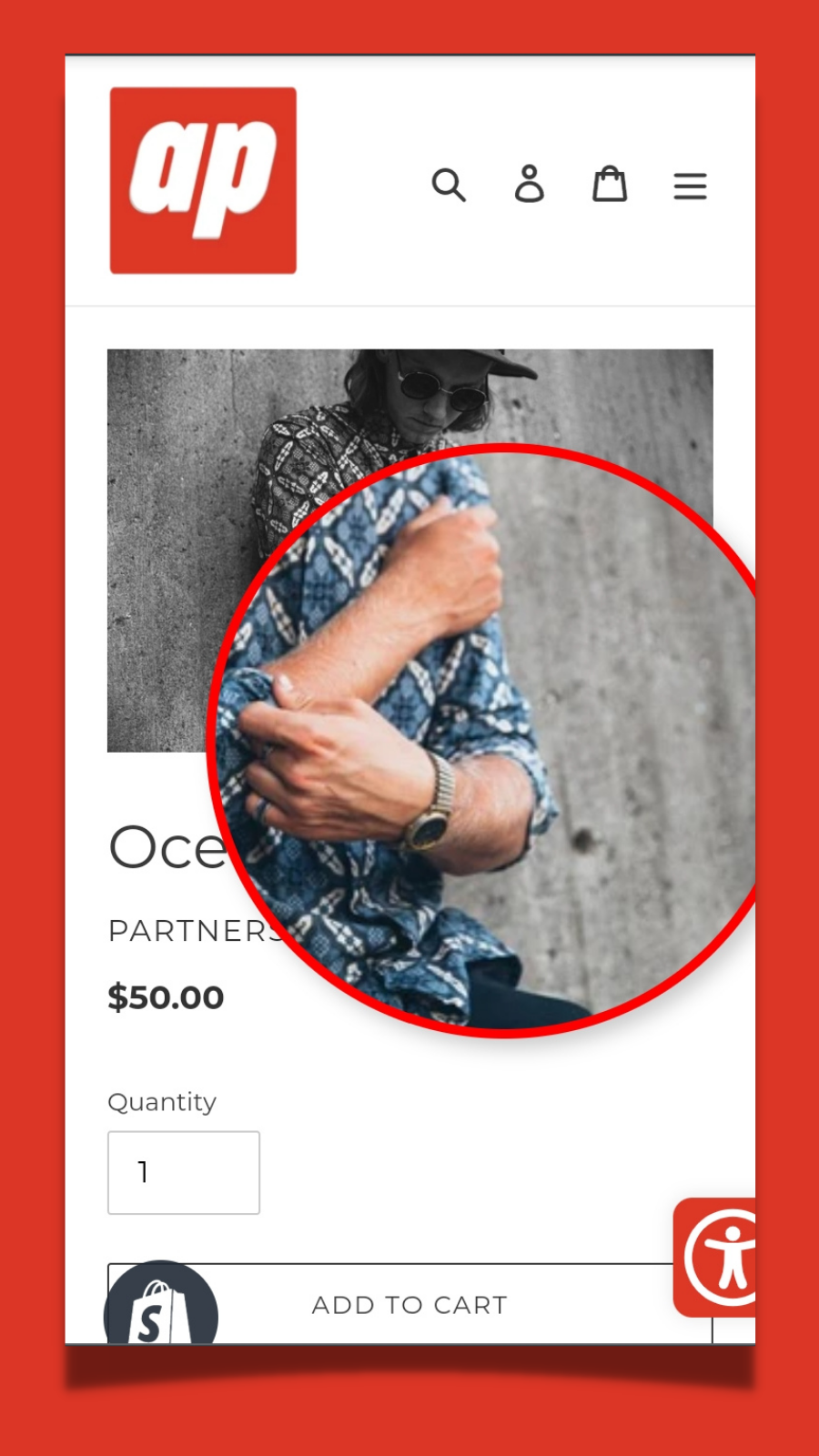 Product Page View On Mobile