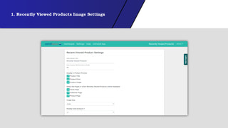 Recently viewed products Image Settings