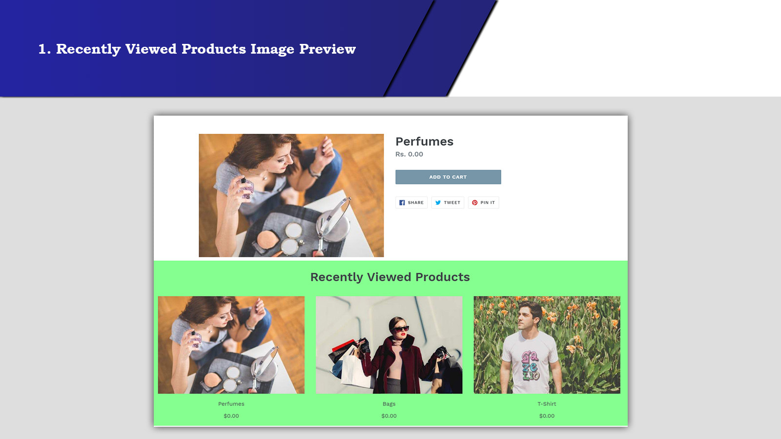 Recently viewed products Image Preview