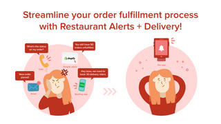 Streamline your order process with Restaurant Alerts + Delivery!