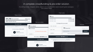 A powerful crowdfunding and pre-order solution.