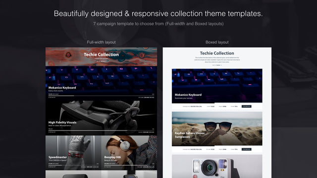 Beautifully designed & responsive collection theme templates.