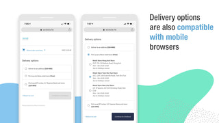 Delivery options are also compatible with mobile browsers