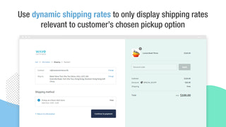 Use dynamic shipping rates to only display relevant rates