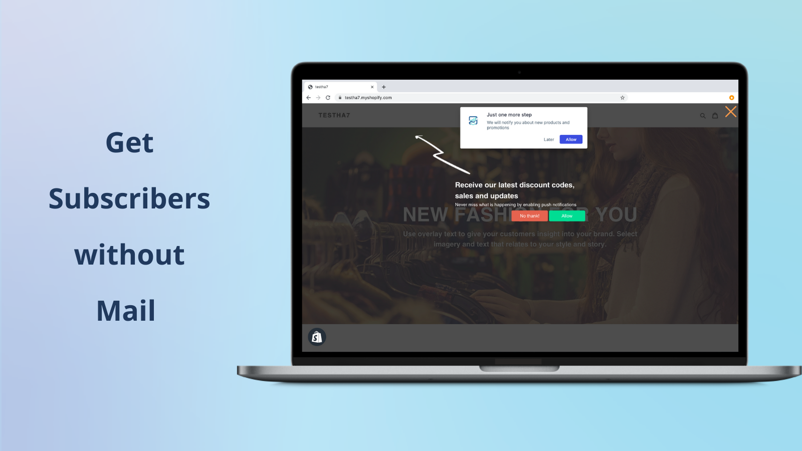 Get your new subscribers with web push notifications app