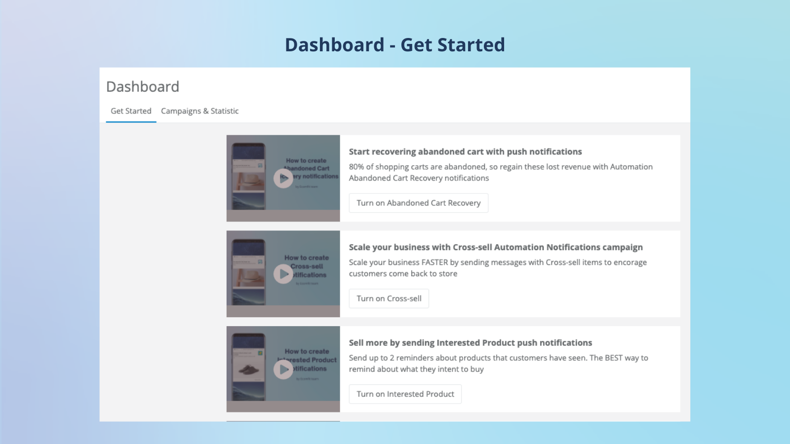 Web Push Notifications App - get started