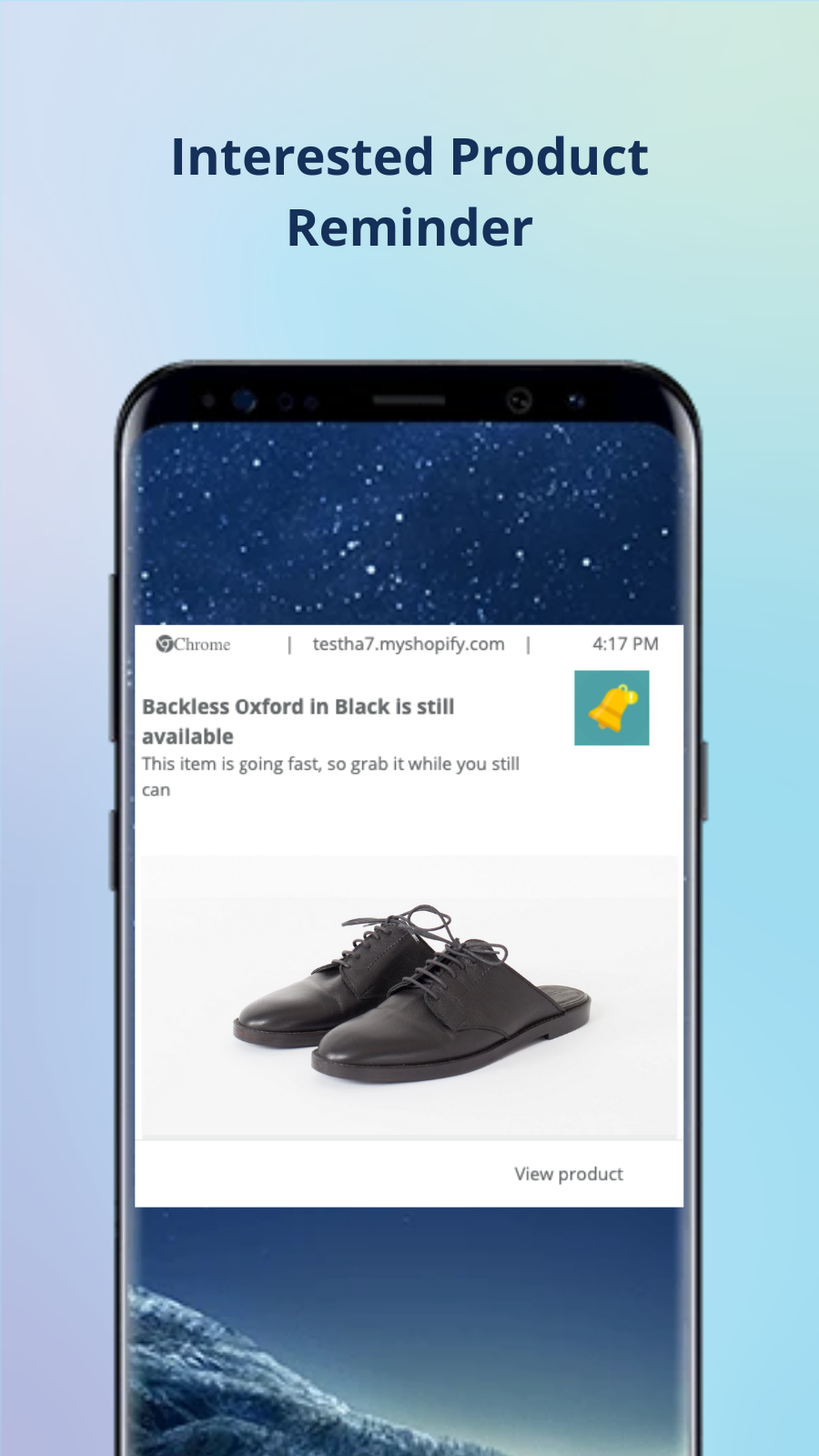 Mobile Push Notifications app: Interested Product reminders