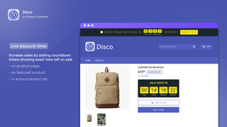 Boost sales and create urgency with sale countdown timer bar