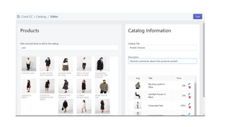 create catalog handle product