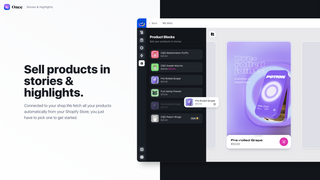 Add products to your stories and turn them into shoppable ones