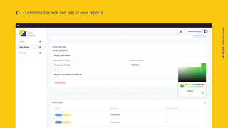 Customize the look and feel of your email reports for Shopify