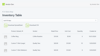 Automatically loads product data from your shop.