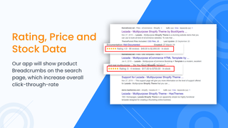 Product page schema