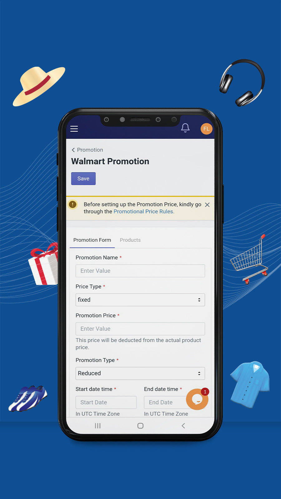 Set promotions and get more sales from Walmart.com