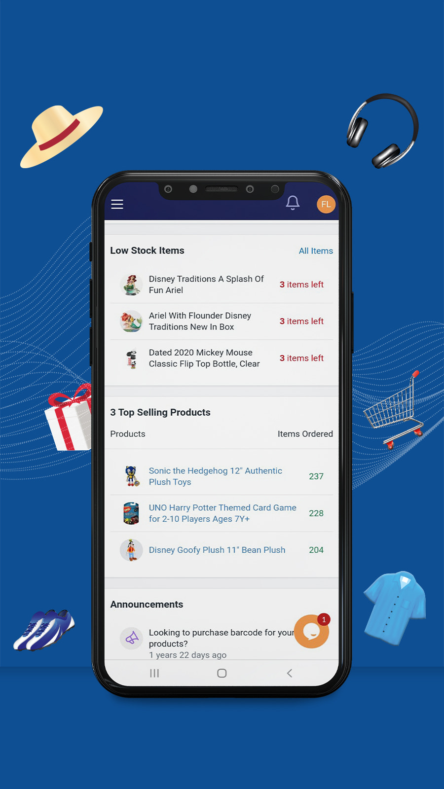 Dashboard of the app shows the To-Do list and important updates