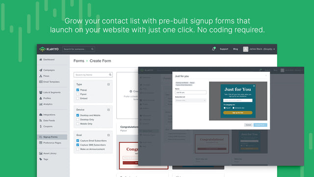 Grow Your Subscription List With a Library of Pre-Built Forms