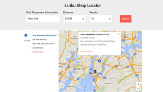 Store Locator with Filter