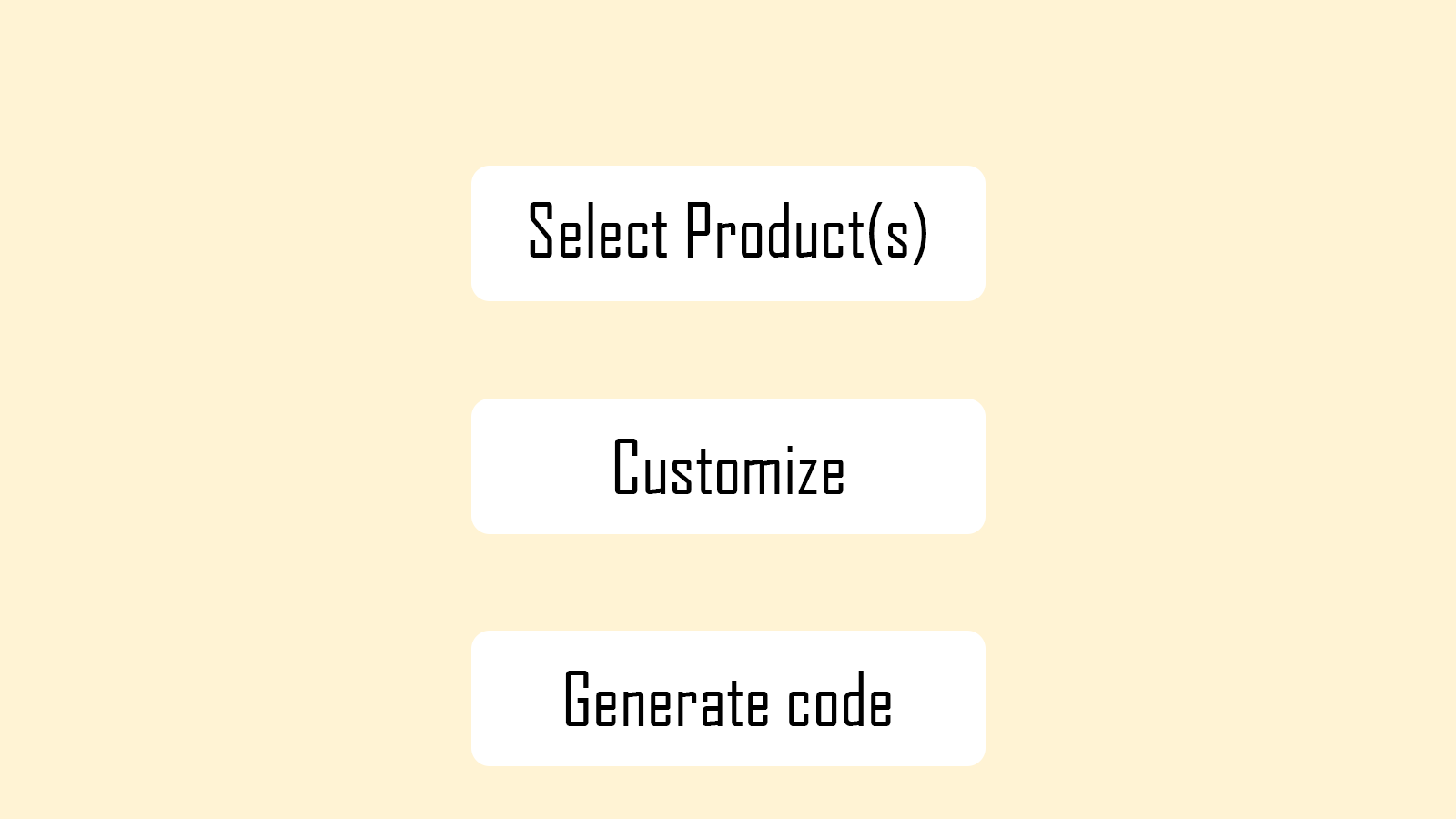 User-friendly UI and easy to use in 3 steps