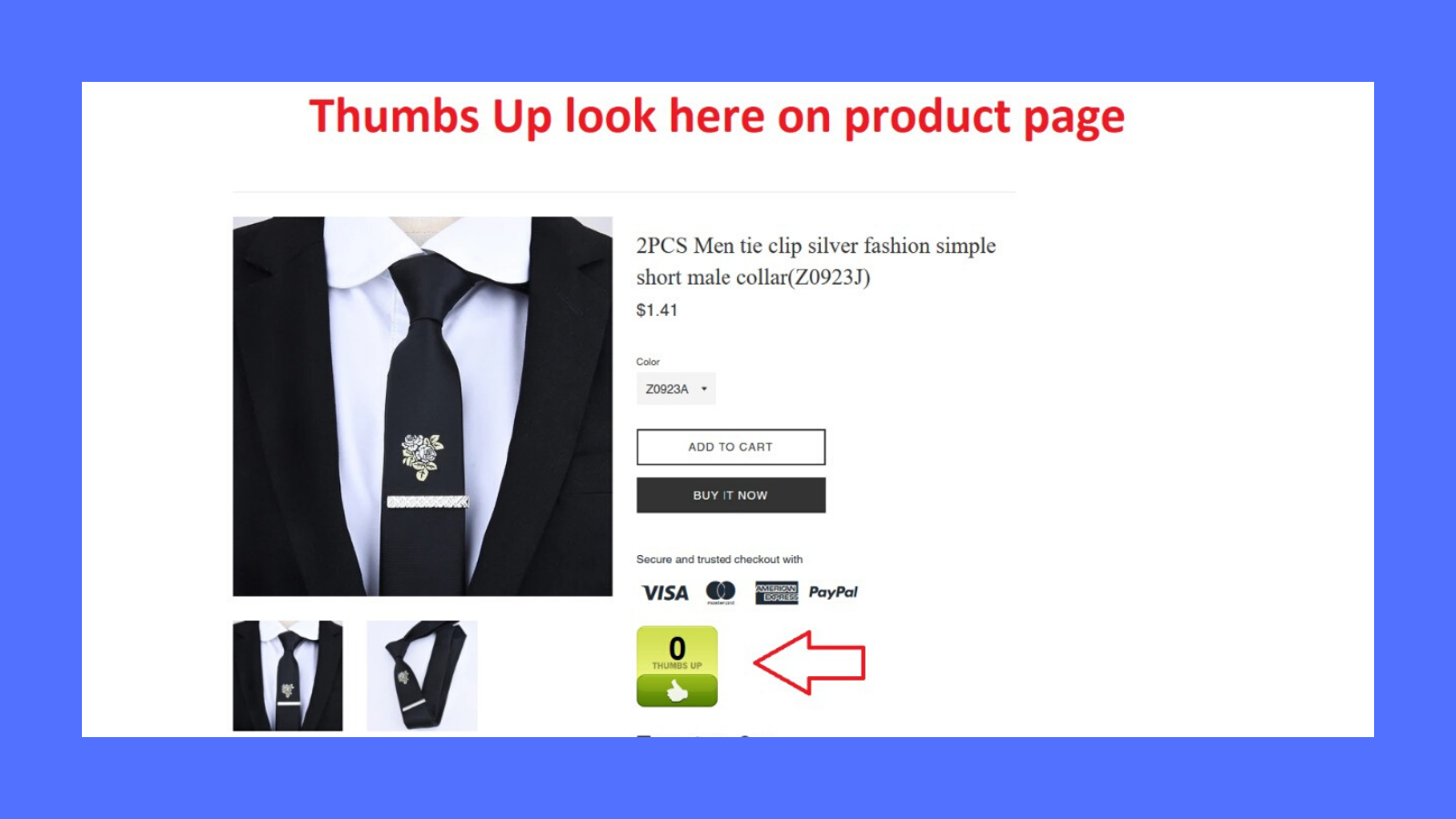 ThumbsUp provides you and easy way for users to see and vote