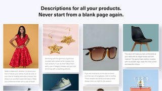 Examples of product descriptions for different products