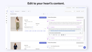 Select and edit product descriptions directly on Tako