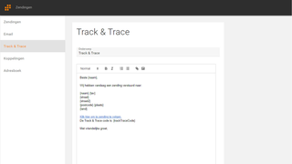 Send your own track & trace e-mails.