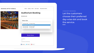 Booking- concert type