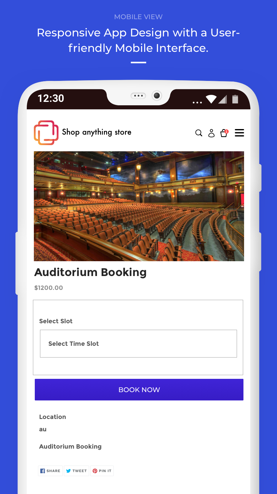 Booking App- Mobile View