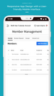 mobile view - member management